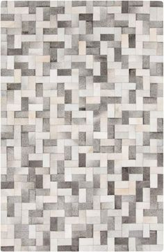 Surya OUT1012 Outback Hand Loomed 100% Hide Rug 8 x 10 Rectangle Home Decor Rugs Rugs