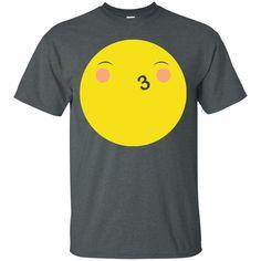 Eyes Closed Kiss Face Emoji T Shirt 1-01