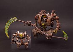- Necron Overlord on Command barge by Artyom Grishin Warhammer 40k Necrons, Warhammer Models, Warhammer 40k Miniatures, Warhammer Fantasy, Chaos Legion, Grey Knights, Dark Eldar, Tyranids, Starcraft