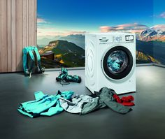 Il pulito perfetto anche dopo le gite #outdoor. #lavatrice #Siemens.