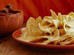 Nachos with 3-Cheese Queso : Recipes : Cooking Channel Recipe | Cooking Channel
