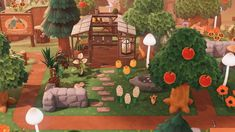 Animal Crossing New Horizons greenhouse glass stall garden Animal Crossing 3ds, Animal Crossing Wild World, Animal Crossing Qr Codes Clothes, Animal Games, My Animal, Decoration Birthday, Ac New Leaf, Motifs Animal, Garden Animals