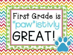 Your child did paw istivly great today First Grade Classroom, Classroom Community, Primary Classroom, Classroom Setup, Classroom Design, Kindergarten Classroom, Future Classroom, School Classroom, Classroom Organization