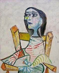 Pablo Picasso- Portrait of a Woman oil painting Kunst Picasso, Art Picasso, Picasso Paintings, Picasso Images, Picasso Sketches, Picasso Style, Georges Braque, Modern Art, Contemporary Art