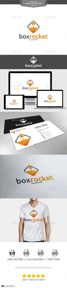 Box Rocket  - Logo Design Template Vector #logotype Download it here: http://graphicriver.net/item/box-rocket-logo/10770623?s_rank=1172?ref=nesto