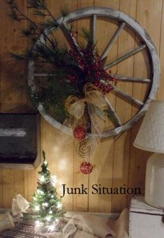 now to find a wagon wheel... my word!! Love it! I had one @Cyndi Little until the dumb tree trimmers we hired dropped a huge branch on it and totally demolished it! :(
