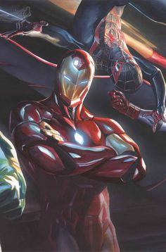 #Iron #Man #Fan #Art. (ALL-NEW, ALL-DIFFERENT AVENGERS ANNUAL #1 LINKING COVER 2 (OF 5) By: ALEX ROSS. ÅWESOMENESS!!!™ ÅÅÅ+