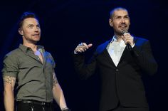 Ronan Keating and Shane Lynch formerly from Boyzone perform at the O2 Arena in London, 26/01/13 © Music Pics Ltd, www.musicpics.co.uk #ronankeating