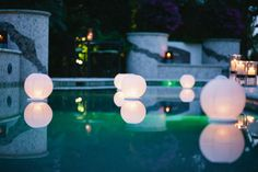 paper lanterns in pool | Paper Lanterns are hot in event decorating right now and you can even ...