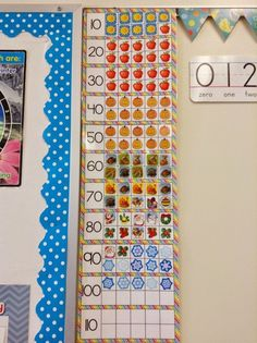 Start ten frames at beginning of year. Add a sticker for each day you're in school.