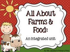 Farm Unit: lessons, activities, guided reading books, and centers to teach your students about food and the farm! In this unit, your students will learn about farms, farm animals, where food comes from, the food groups, and how to make healthy food choices.