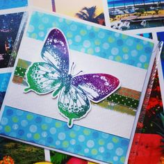 #butterfly greeting card 5x5.
