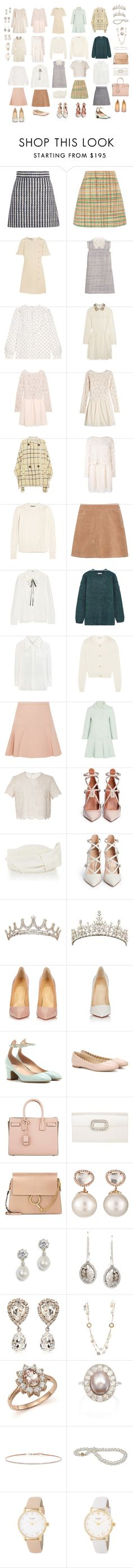 """Untitled #3024"" by lespybook ❤ liked on Polyvore featuring Miu Miu, Gucci, Valentino, See by Chloé, Isabel Marant, Chloé, RED Valentino, Costarellos, Cappellino Millinery and Gianvito Rossi"