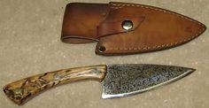 Giovanni DelGuercio Knife and Leather Sheath