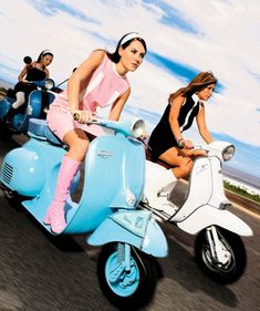 To a mods vs. rockers rally...#ridecolorfully