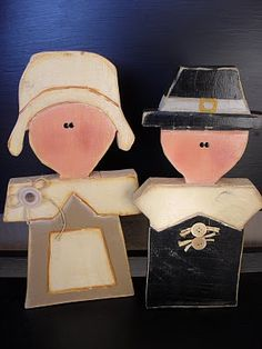I would love to figure out a way to make something like this.. cute pilgrims for Thanksgiving