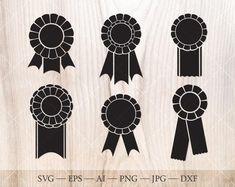 Rosette ribbon svg. Winner awards svg trophy SVG. Ribbon | Etsy Flower Outline, Flower Svg, Sunflower Clipart, Photoshop 6, Knight Shield, Birth Month Flowers, Outline Drawings, Silhouette Studio Designer Edition, Svg Files For Cricut