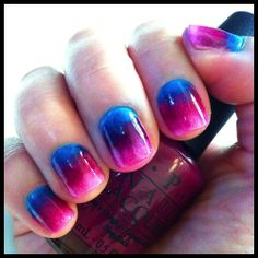 A different way to ombre, so cute!