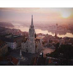 Budapest in the morning. #aerialphotography #drones : @Amos.Chapple #Budapest #Travel #Adventure #Europe