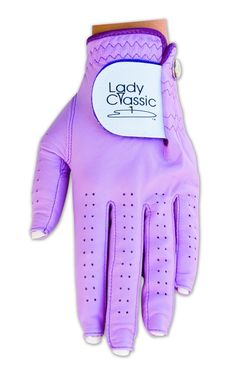 Slam Glam - Lady Classic Violet Nail Golf Glove.  Glove designed specifically for golfers with nails!
