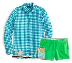 """Turquoise Seas"" by sc-prep-girl ❤ liked on Polyvore featuring J.Crew and Lilly Pulitzer"