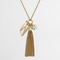 Factory tassel charms pendant necklace : Necklaces | J.Crew Factory
