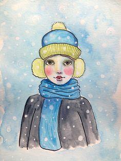 #portrait #drawing #penanink #art #snow #winter