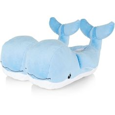 Teens Blue Whale Slippers (5,085 INR) ❤ liked on Polyvore featuring shoes and slippers