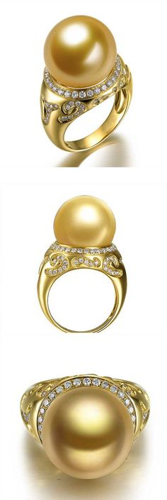 827cd81c4 golden south sea pearl ring Golden South Sea Pearls, Necklaces, Bracelets,  Bijou Box