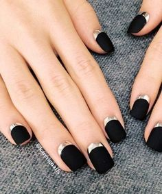 Reverse French Tips - Cool-Girl Chrome Nail Inspo - Photos