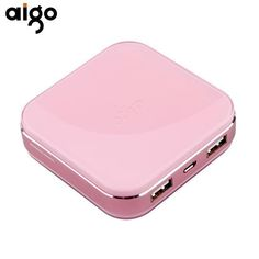 Aigo Power Bank Lovely Appearance Battery Charger with Dual USB Ports Powerbank External Mobile Battery Pack Usb, Portable Battery, New Product, Iphone, Trading Post, Compact, Tech, Electronics, Lifestyle