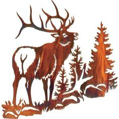 Serenade Elk Metal Wall Art | Metal Wall Art, Metal Walls and Elk