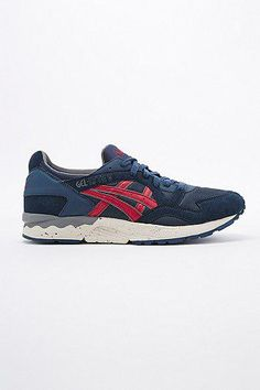 Asics Gel Lyte V Trainers in Navy and Burgundy #shoes #offduty #covetme #asics