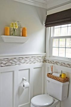 Wainscoting For Your Bathroom And Adding Tile Above It Is A Stylish Way Of Giving