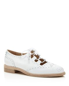$Stuart Weitzman MrGill Lace Up Oxfords - Bloomingdale's