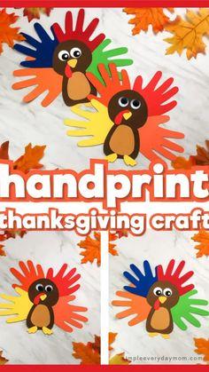 Thanksgiving Activities For Kindergarten, Kindergarten Crafts, Craft Activities, Preschool Crafts, Fall Preschool, Preschool Education, Kids Crafts, Cool Diy, Fun Diy