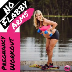 No Flabby Arms Pregnancy Workout.  This pregnancy workout will help keep the arms tight and toned even during pregnancy.  All these exercises are safe to do during all trimesters and can be done from home.  Lots of great pregnancy tips, exercises and diet info in this blog.  http://michellemariefit.publishpath.com/no-flabby-arms-pregnancy-workout