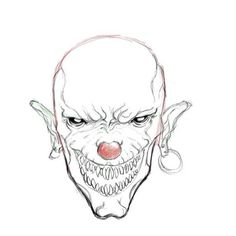 How to Draw a Scary Clown, Step by Step, Creatures