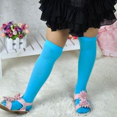 5a1ca459c77e1 Lovely Kids Girl Solid Color Knee High Socks Dance Stockings QL-in Tights &  Stockings from Mother & Kids on Aliexpress.com | Alibaba Group