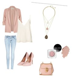 """""""Today's Featured Product Look: Minaret Three-Row Convertible Necklace  Today Only, $48, Regularly  $65"""" by thecelticpearl on Polyvore featuring J Brand, River Island, Anine Bing, Topshop and Chloé #jewelry #fashion #necklace #accessories #style #shopping #boutique #chloeandisabel #thecelticpearl #sale"""