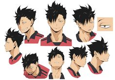 Anime Character Drawing, Character Sheet, Haikyuu Manga, Blue Exorcist, Cowboy Bebop, Inu Yasha, Kuroo Tetsurou, Kurotsuki, Volleyball Anime