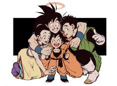 Goku, chichi, Gohan and Goten♡^^ Goku chichi and chichi's baby boys♡^^ Dragon Ball Gt, Gohan And Goten, Goku And Gohan, Dbz Vegeta, Neue Animes, Milk Y Goku, Manga Anime, Manga Girl, Anime Girls