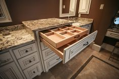 Make up and jewelry drawer! Get those ugly make up bags out of site, and keep your counters free of clutter.