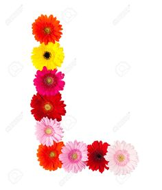 letra L con flores - Buscar con Google