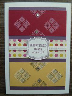 Geburtstagskarte mit Nett-iketten & Mosaic Madness