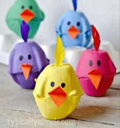 Easy DIY egg carton chicks - Easter craft for kids // Tojástartó csibe - egyszerű kreatív húsvéti ötlet gyerekeknek // Mindy - craft tutorial collection // #crafts #DIY #craftTutorial #tutorial