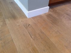 Durable laminate flooring with the rustic appearance of real hard wood.