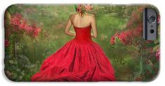 Woman In The Rose Gown phone case featuring the art of Carol Cavalaris. Art Phone Cases, Iphone Cases, Rose Gown, Presentation, Slim, Gowns, Woman, Formal Dresses, Beautiful