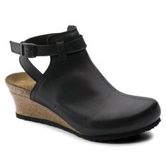 33a8868b7088 BIRKENSTOCK Esra Natural Leather Black in all sizes ✓ Buy directly from the  manufacturer online ✓