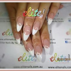 Sculpted pink and white french
